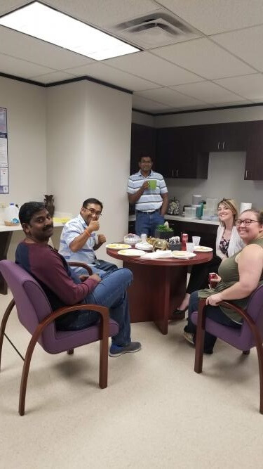 Family Get Together at US Office